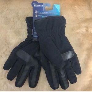 Isotoner Signature Gloves Black Sz M NWT